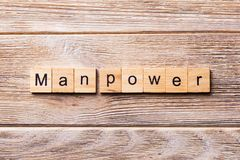 Man Power word written on wood block. Man Power text on wooden table for your desing, concept stock photos