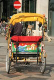 Man powered chariot in Copenhague Royalty Free Stock Images