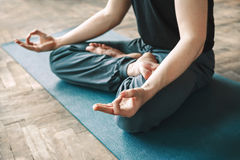 Man practice yoga Stock Photography