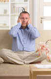 Man practicing energy medicine Royalty Free Stock Images