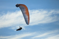 Man practicing paragliding extreme sport Royalty Free Stock Photos