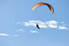 Man practicing paragliding extreme sport Stock Image