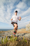 Man practicing trail running Royalty Free Stock Images