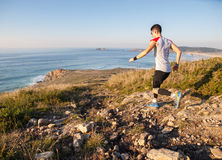 Man practicing trail running Royalty Free Stock Photos