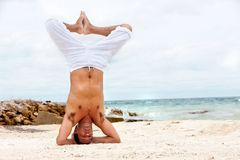 Man practicing yoga Stock Image
