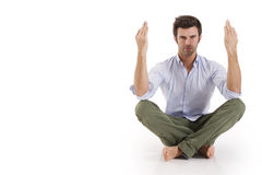 Man practicing yoga Royalty Free Stock Photography