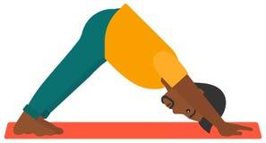 Man practicing yoga Stock Photos