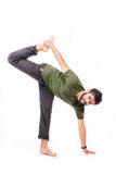 Man practicing yoga Royalty Free Stock Images