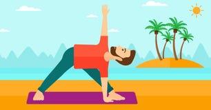Man practicing yoga. Stock Photos