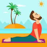 Man practicing yoga. Stock Images