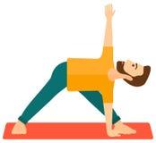 Man practicing yoga Stock Photo