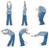 Man Practise Tai Chi. Illustration of Man Practise Tai Chi Warm-up Royalty Free Stock Photography