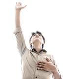 Man praise. Stock Image