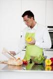 Man Praparing Food Royalty Free Stock Images