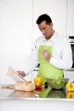 Man Praparing Food Royalty Free Stock Image