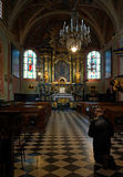 Man pray in St. Mary s Church in Krakow Royalty Free Stock Photography