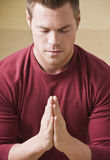 Man praying Stock Image