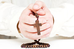 Man praying Royalty Free Stock Photography