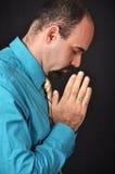 Man praying. This picture represents a man praying Stock Photography