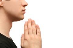 Man praying Royalty Free Stock Photography