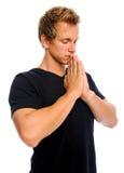 Man praying Stock Photo
