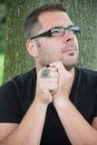 man praying στοκ φωτογραφία