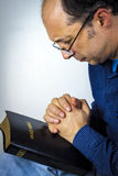 Man praying Stock Photography