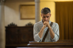 Man praying in the Church Royalty Free Stock Photography
