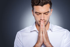 Man praying. Stock Images
