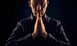 A man praying. Royalty Free Stock Image