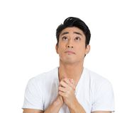 Man praying for help Royalty Free Stock Photography