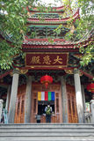 Man praying at Nanputuo Temple in Xiamen city, China Royalty Free Stock Photography