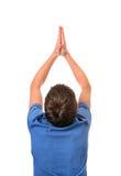 Man Praying Rear View Royalty Free Stock Photos