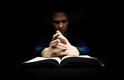 Man praying to God Royalty Free Stock Photos