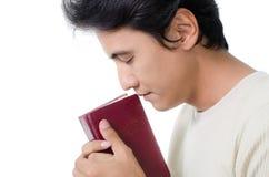 Man praying. Man praying on white background stock image