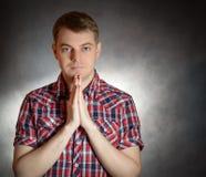 Man praying. Stock Photos