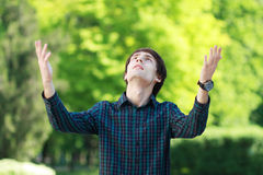Man prays Royalty Free Stock Photo
