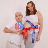 Man and pregnant woman Royalty Free Stock Photos