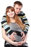 Man and pregnant woman: family waiting a baby Royalty Free Stock Photography