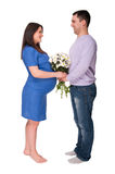 Man and pregnant woman royalty free stock photography