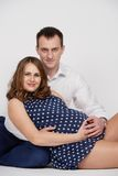 A man with a pregnant woman Stock Photo
