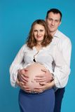 A man with a pregnant woman Stock Photography