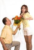 Man prepared bouquet Stock Image