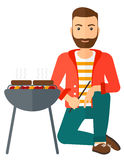 Man preparing barbecue Royalty Free Stock Photo