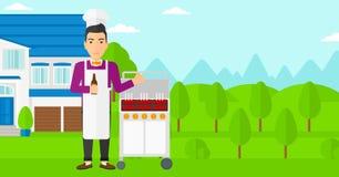 Man preparing barbecue. Stock Photos