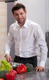 Man preparing food Stock Image