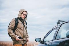 Man preparing for hiking Royalty Free Stock Images