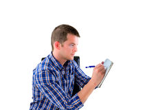 Man preparing a list Royalty Free Stock Photo