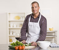 Man Preparing Meal Stock Photography