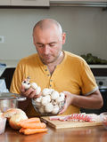 Man preparing meat Royalty Free Stock Photography